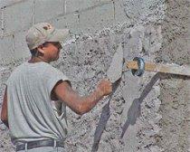 Как штукатурить бетонную стену