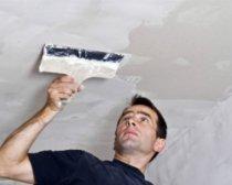 Как выровнять потолок штукатуркой