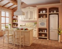The kitchen is a comfort and mood in the house.