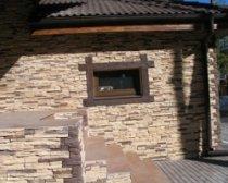 Отделка дома фасадным камнем