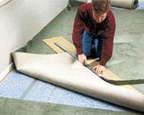 Укладка ковролина на латексной основе