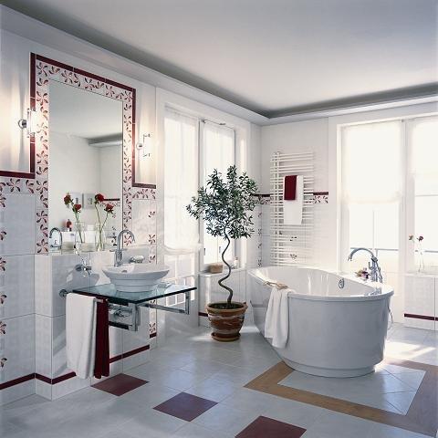 оформлении интерьера ванной комнаты