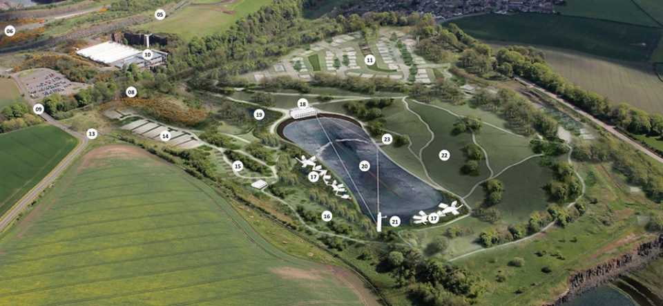 The quarry in Edinburgh is proposed to be turned into a surf pool.