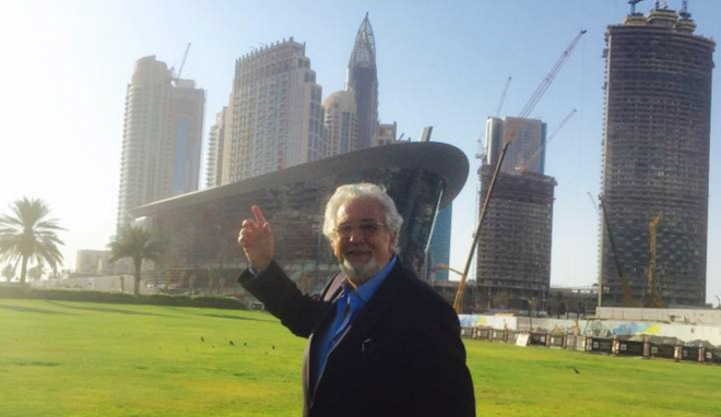 """The King of Opera"" Placido Domingo opened the Dubai Opera designed by Atkins"