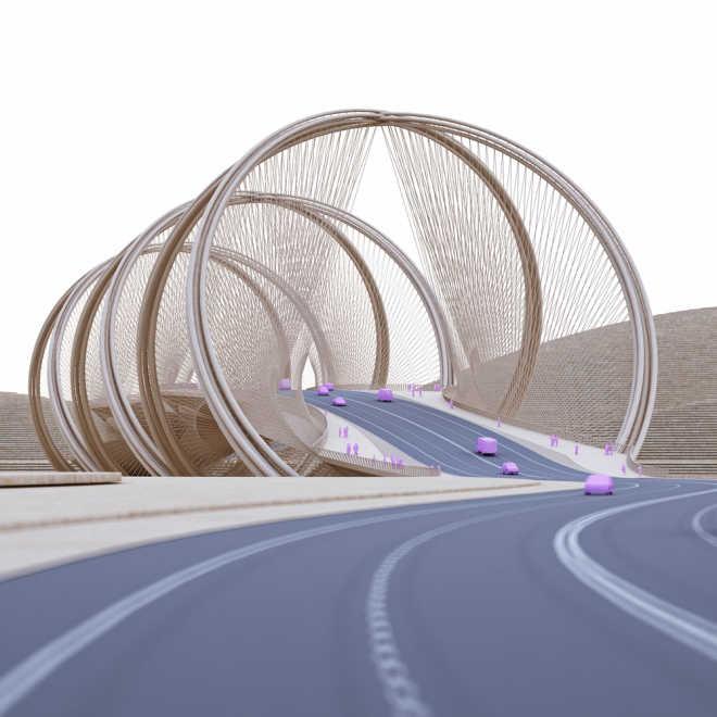 Мост в виде двойной спирали для Олимпийских игр 2022 в Пекине
