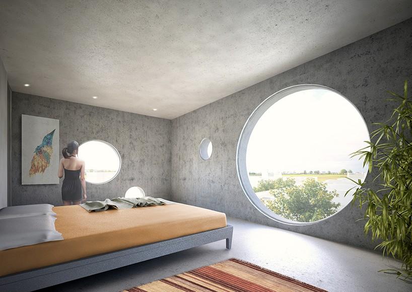 Y-образный дом с бассейном на крыше в Тайване