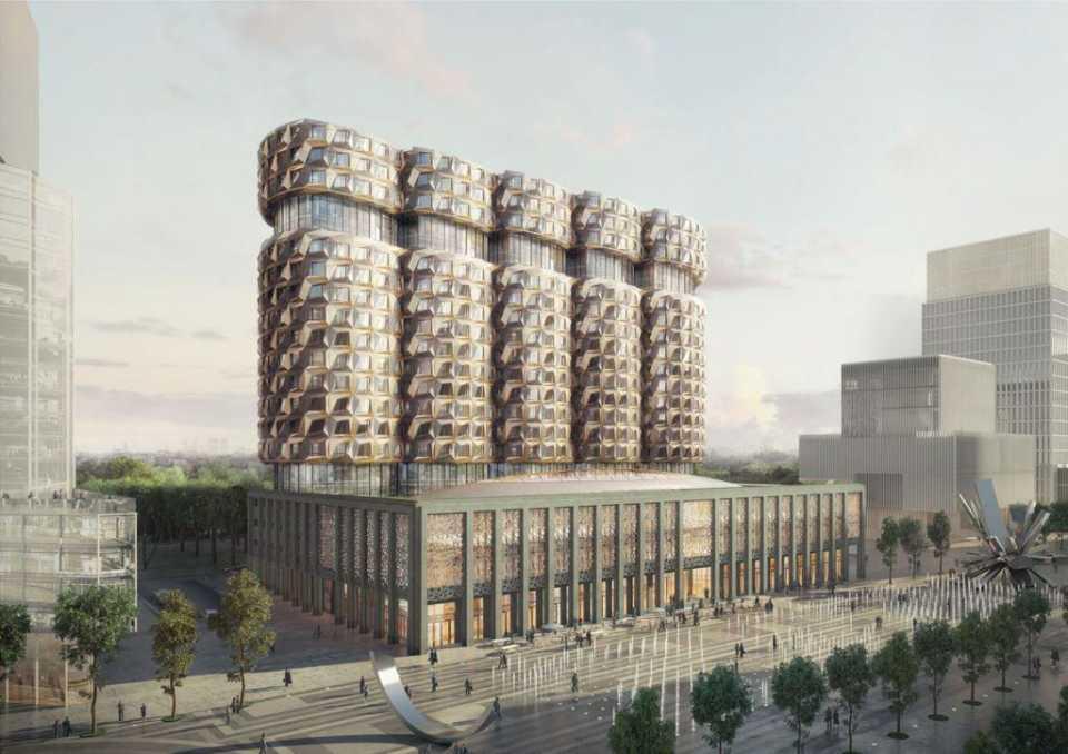На территории ЗИЛа утвержден проект здания с пятью гранеными башнями
