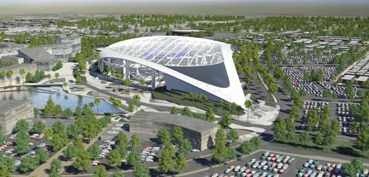 Начались работы по строительству стадиона Aecom и Turner в Лос-Анджелесе
