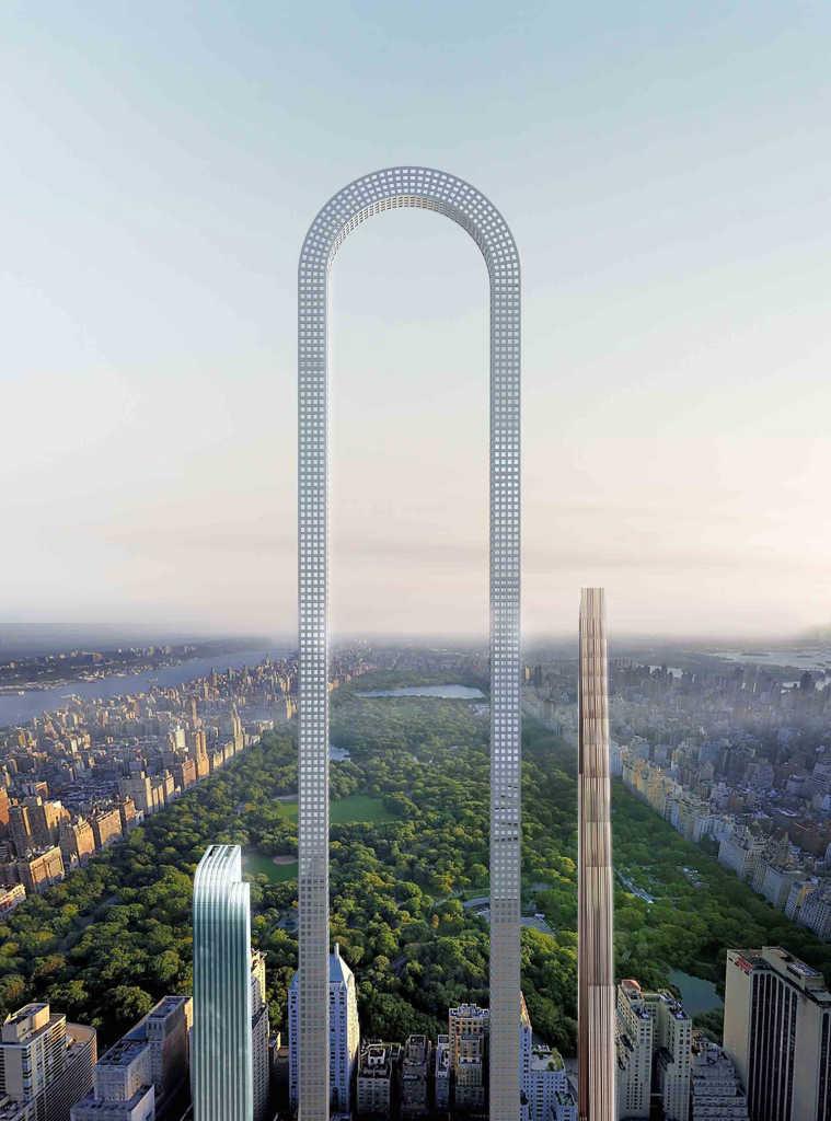 Нью-Йоркская студия Oiio предложила проект «самого длинного здания в мире»