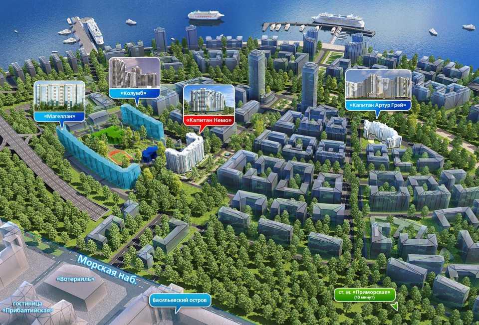 Петербургскому девелоперу разрешили построить три корпуса крупного жилого комплекса
