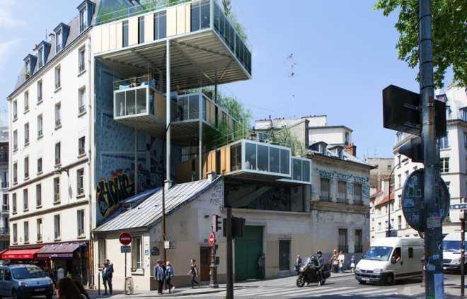 План о доступных квартирах на уже существующих парижских зданиях