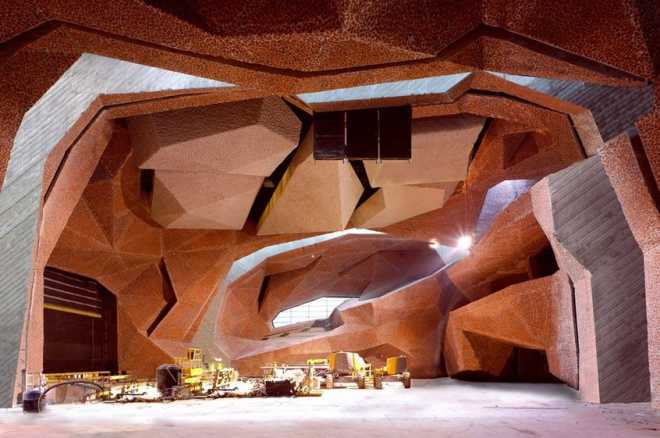 Польский концертный зал CKK Jordanki с трансформирующимся губчатым интерьером