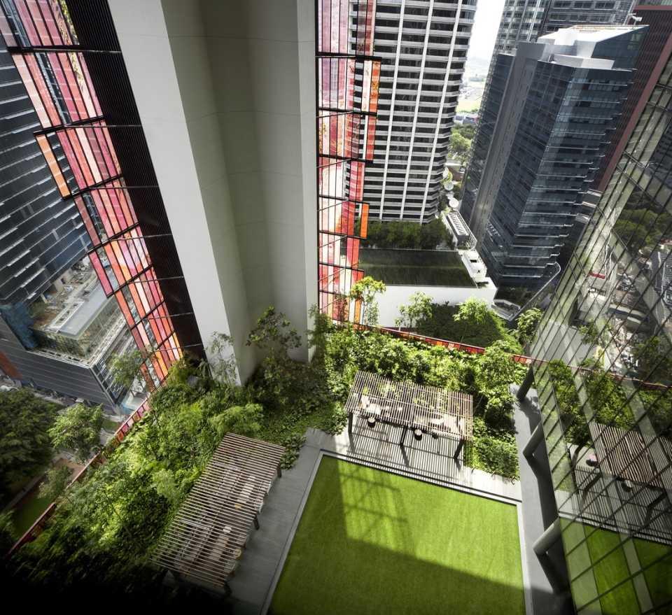 «Пушистая» башня, построенная для отеля в Сингапуре, задает новый стандарт в высотном строительстве