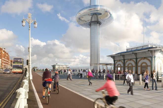 Самая высокая в мире смотровая башня с движущейся площадкой откроется в Брайтоне в следующем месяце