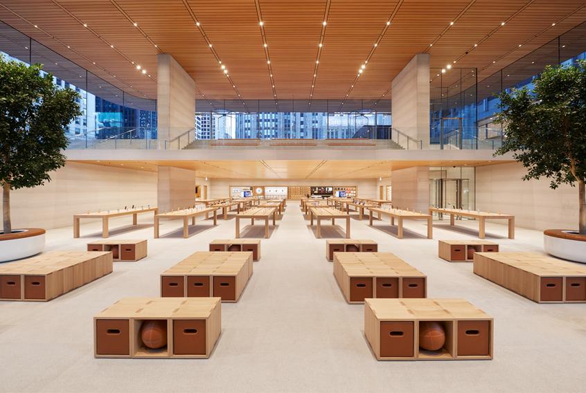 Самый претенциозный из воздвигнутых когда-либо магазин Apple имеет крышу в форме MacBook