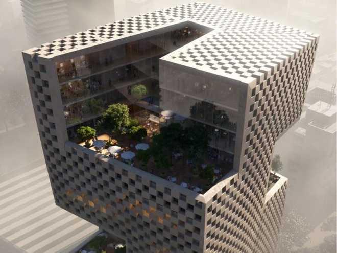 «Шашечки» для банкиров: архитекторы Snøhetta оформят здание ливанской финансовой фирмы как шахматную доску