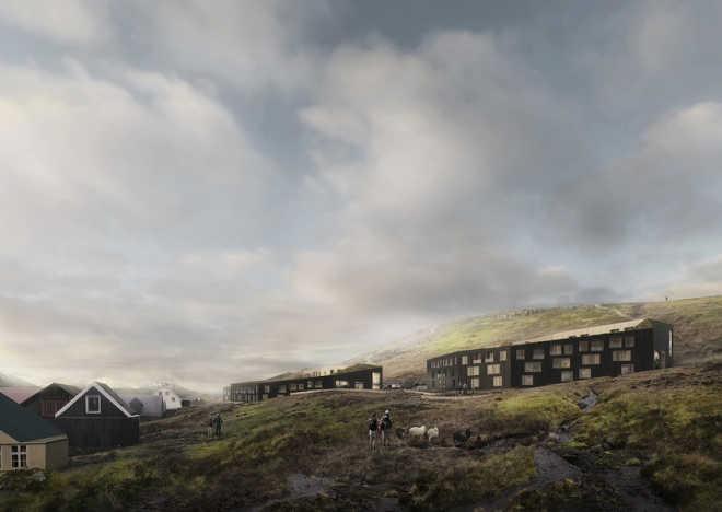 Swedish firm designs ecological settlement on the Faroe Islands