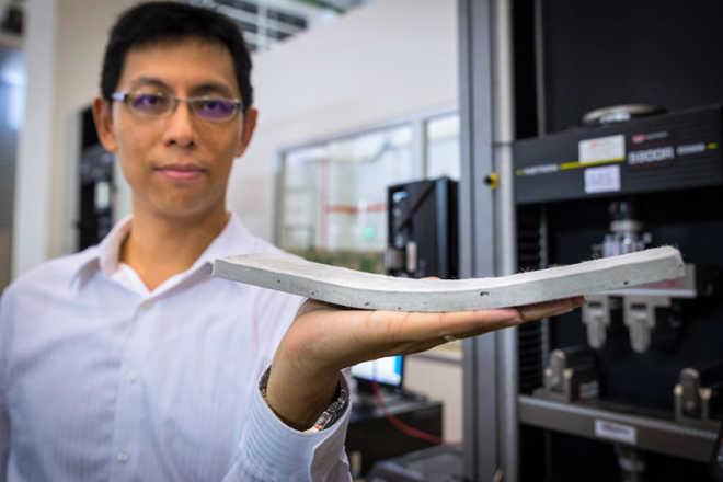 Ученые NTU-JTC разработали гибкий бетон, который прочнее и долговечнее обычного