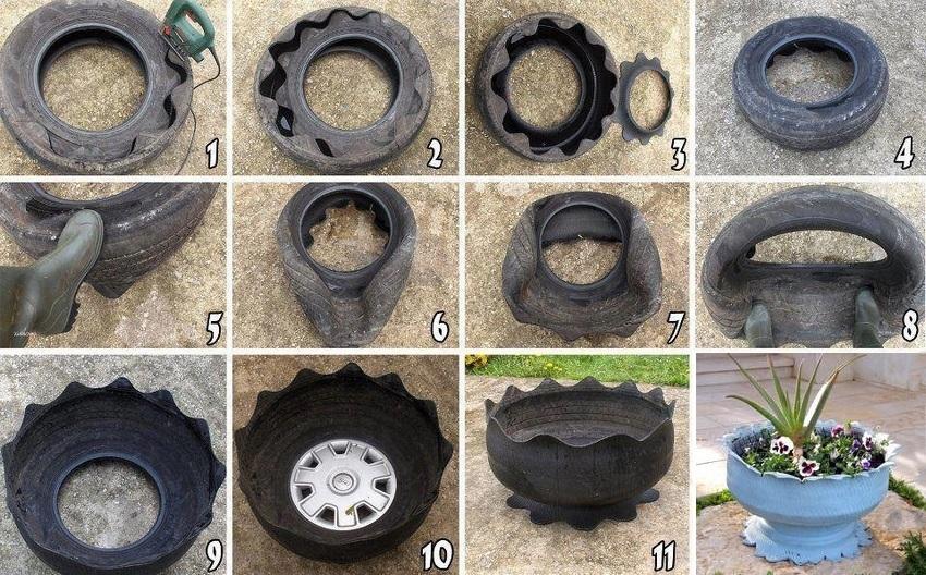 Поделки из шины автомобильные