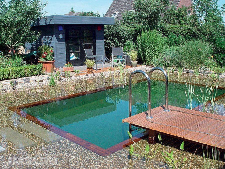 Плавательный пруд на даче