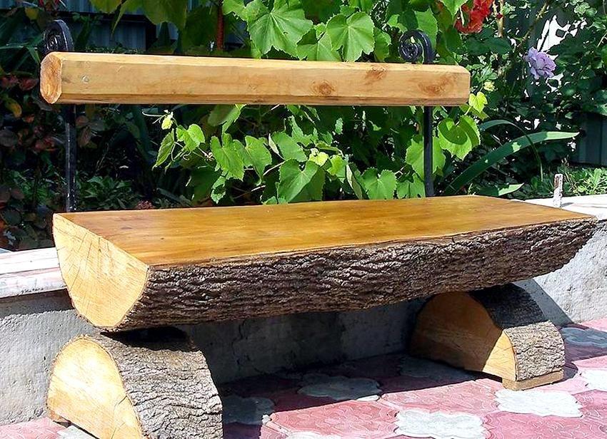 Как сделать лавочку для сада своими руками из дерева