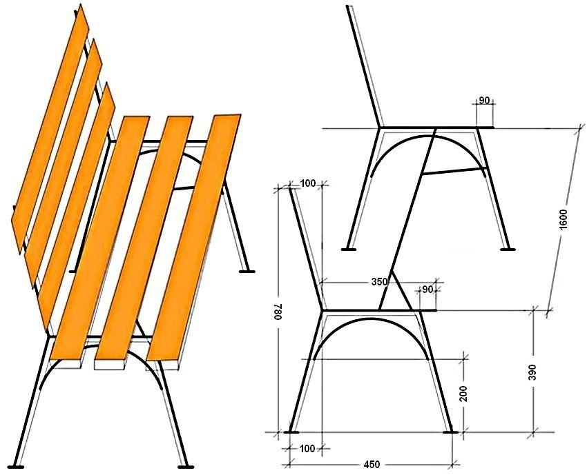 Сделать скамейку со спинкой своими руками