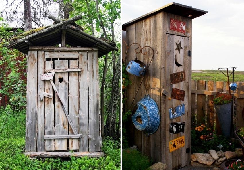 Фото туалетов для дачи из дерева своими руками 254