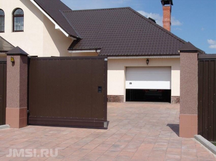 ворота сдвижные для частного дома