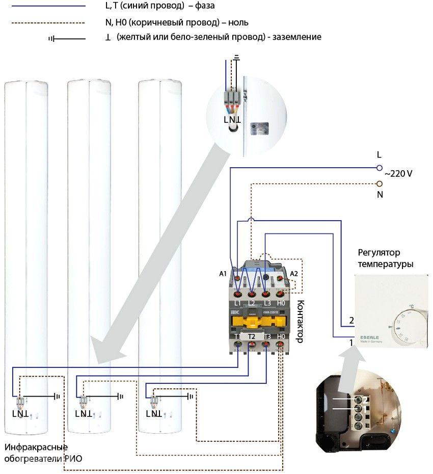 Обогреватель взрывозащищенный овэ-4 схема подключения