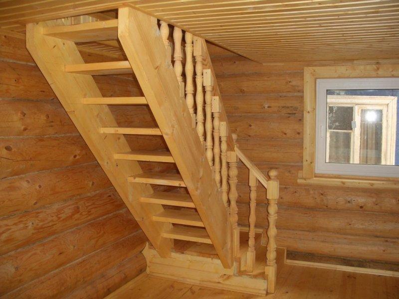 Установка деревянных лестниц 29