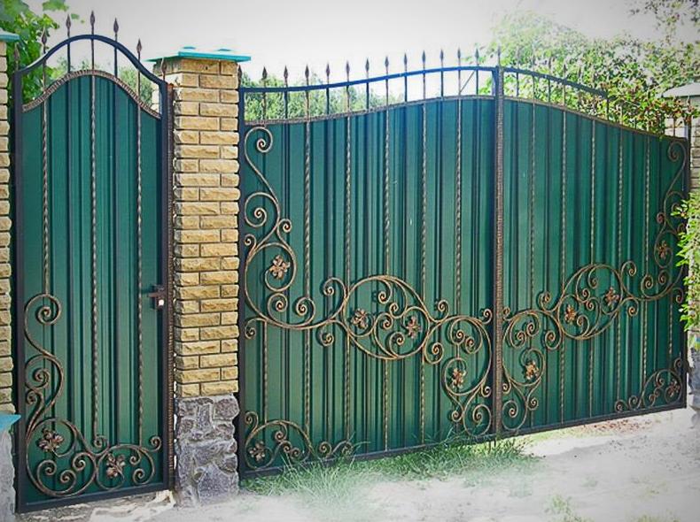 Как сделать узор на заборе 55