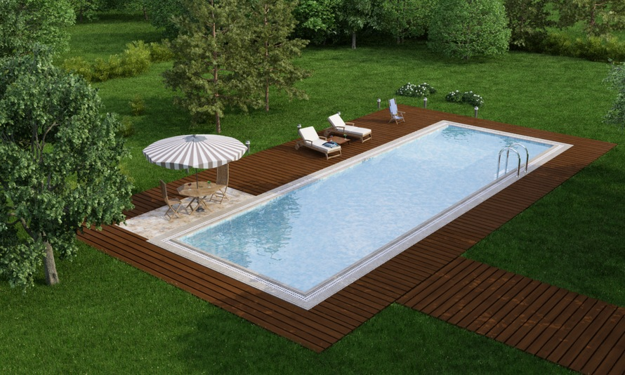Изысканный дизайн бассейна