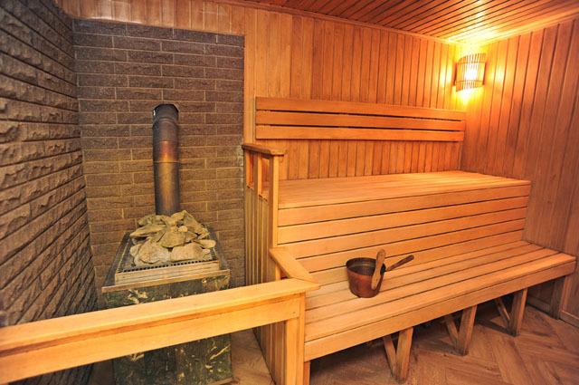 Баня, встроенная в дом