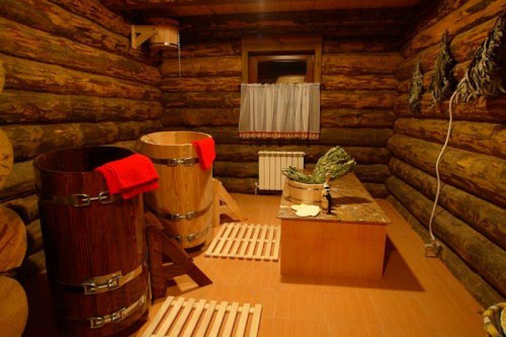 Деревянный декор бани