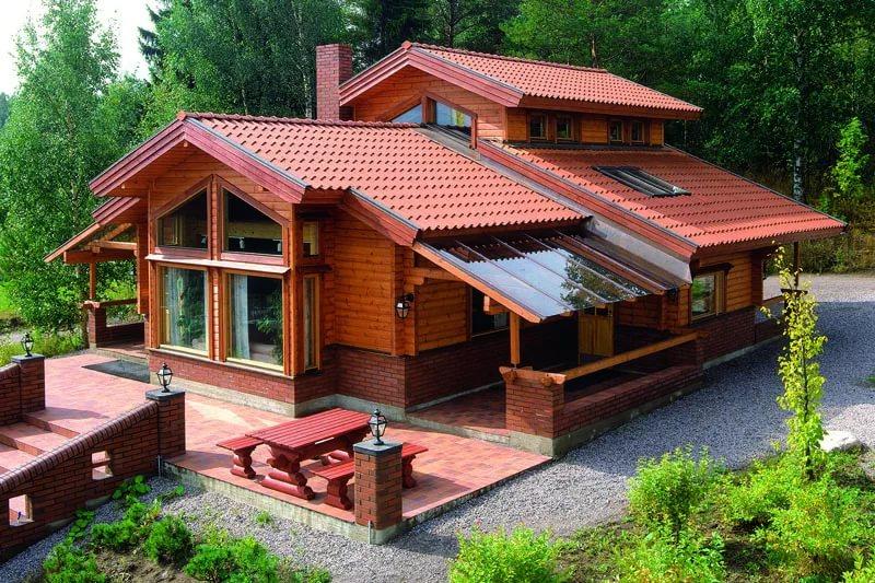 Возведение рубленого деревянного дома