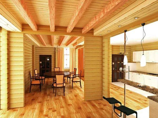 Дом из клееного бруса - выгодно и практично