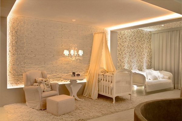 Освещение в комнате для гостей
