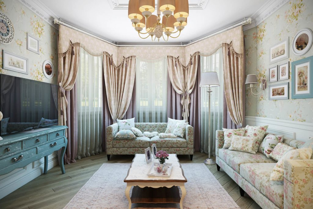 Гостиная в стиле шебби-шик. Дух романтики и очарование прошлого