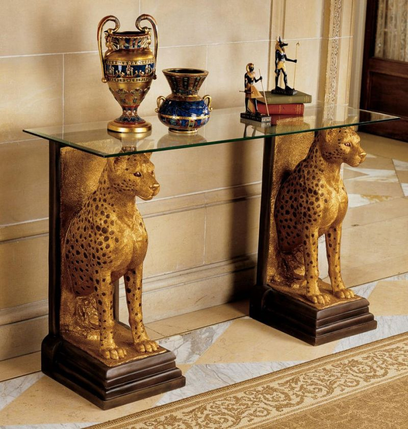 Аксессуары и детали декора египетского стиля