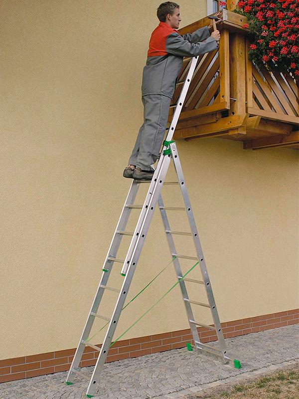 Лестница 2-х секционная – применяем в ремонте