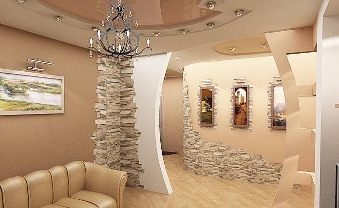 Декоративный камень в дизайне интерьера